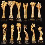 Oscar Negócios Corporativos Metal Resina banhada a ouro troféu de cristal de plástico
