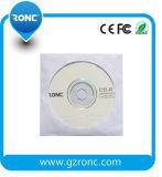 Buena calidad de color blanco funda de papel sobre CD DVD 80 g.