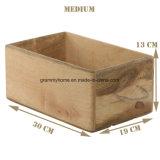 Организатор деревенской деревянной отсек для хранения контейнеров в салоне держатель для кухни ванной комнаты