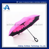 Paraplu van de Luifels van de bevordering de Dubbele Draagbare Handsfree Rechte Omgekeerde Omgekeerde