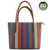Le coréen Fashion sac à main Couleur rayures sac fourre-tout de collision avec des sacs de petite taille SH361