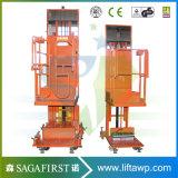 Plataforma hidráulica eléctrica del recogedor de la orden
