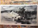 Arte astratta in bianco e nero della parete delle pitture a olio per la decorazione