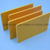 High-density вес доски пены PVC желтого цвета