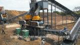 Pianta di pietra e sabbia di schiacciamento del basalto che fanno la linea di produzione