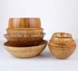 Ciotola di bambù del capretto della ciotola di bambù dell'insalata
