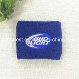 スポーツのテリー布の綿のリスト・ストラップの安いカスタムSweatband