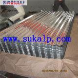Hoja de aluminio acanalada