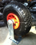 10-дюймовый тяжелого груза 3.00-4 пневматические резиновые самоустанавливающегося колеса