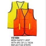 Maglia di sicurezza della maglia con 4PC della banda riflettente di 2*16cm, en di raduno