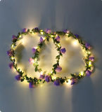 Hotsale piscando LED Garland com flores Garland String Lights