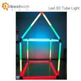 Lumière linéaire de décoration de barre de nuit d'événement de lampe du tube 3D magique