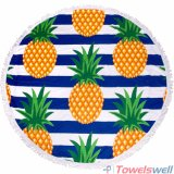 Напечатанное полотенце пляжа Microfiber круглое (шатия ананаса)
