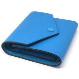 Piccola e borsa blu squisita con testo fisso nero