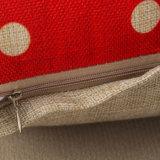 正方形は18インチの綿の麻布クッションカバー高品質の投球枕箱を印刷した