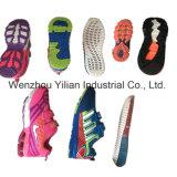 Nouveau produit des chaussures en PVC de chiffons à trois couleurs Making Machine Prix