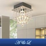 Design moderno 1 Luz de Cristal Mini candeeiro de tecto decorativa para o corredor, quarto, sala de estar, cozinha e sala de jantar (crómio)