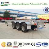 Aanhangwagens van de Vrachtwagens van de Container van de Chassis van de Assen van Fuwa van Shengrun 40t 40FT de Skeletachtige