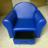 Кожаный диван с одним/детей мебели/Детский стул с выдвижной ящик (SF-49)
