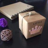 Principito Princess Crown Plaza el papel de estraza para Baby Shower Candy Box parte cajas de regalo de cumpleaños de niños Niño Niña favorece Box