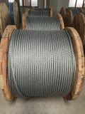 Corde lumineuse 6X37+FC/Iwrc 18mm de fil d'acier