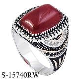 Nuovi modelli 925 anelli d'argento micro Seting CZ degli uomini con la pietra