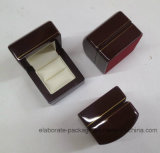 Коробка кольца высокого Veneer наградная деревянная