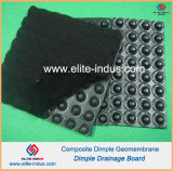 HDPE Dimple Geomembrane Composite Black Color PP Geotextil Não Tecido