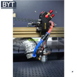Gravure de laser et machine de découpage pour le PVC en plastique acrylique en bois de forces de défense principale