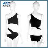 Neue reizvolle Frauen-einteiliges Badebekleidungs-Verband-Badeanzug-Bikini-Schwarzes