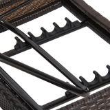 屋外のテラスの家具の柳細工の藤の調節可能なプールのChaiseのラウンジチェア