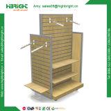 Supermarket Wooden Metal Combined Shelving Display