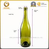 丸型750mlのガラスワイン・ボトルのバーガンディのびん(1255年)