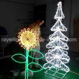 LED blanche Crystle décoration de jardin d'éclairage artificiel de l'arbre de Noël