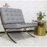 Mobiliário de Sala Venda quente banco Cinzento Aço Inoxidável Polaco Lazer Cadeira de Barcelona