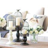 Cage de métal de forme classique des chandeliers de décorations