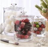 Durável jarra de vidro definido para a organização de beleza e boticário