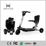 Désactivé motocyclette électrique multifonction compact en aluminium léger fauteuil roulant électrique