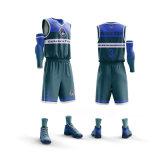 Le basket-ball de sublimation personnalisé de haute qualité jersey une épaule couleur coloré