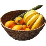 Cesta de frutas Rattan-Weaved cestos de vegetais Wicker Willow cesto de armazenamento