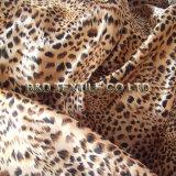 Satin-Drucken-Polyester 100% mit Leopard-Muster