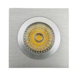 Quadratische vertiefte örtlich festgelegte LED Deckenleuchte des Drehbank-Aluminium-GU10 MR16 (LT2111A)