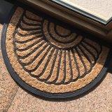 編まれたパナマ性質のファイバーは型によって刻まれるゴム背部スリップのココヤシのシュロのココナッツファイバーのドア・マットを非浮彫りにする