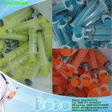 Seringue remplaçable avec le plongeur coloré, seringue colorée avec la bonne qualité