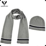 Комплект шлема Beanie шарфа людей типа отдыха дела высокого качества
