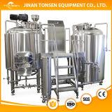 De Apparatuur van het Bierbrouwen van het roestvrij staal Met de Brouwerij van Twee Schepen