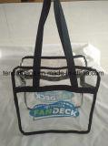 Sacchetto di acquisto libero con la borsa trasparente della chiusura lampo della chiusura lampo