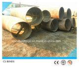 Curvas de tubo hechas de acero de carbón del API 5L del tratamiento térmico