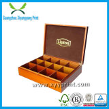 Papel de impresión personalizado y caja de té de madera para embalaje