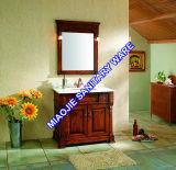 vanità antica della stanza da bagno di legno solido/quercia di 92cm (MJ-394)